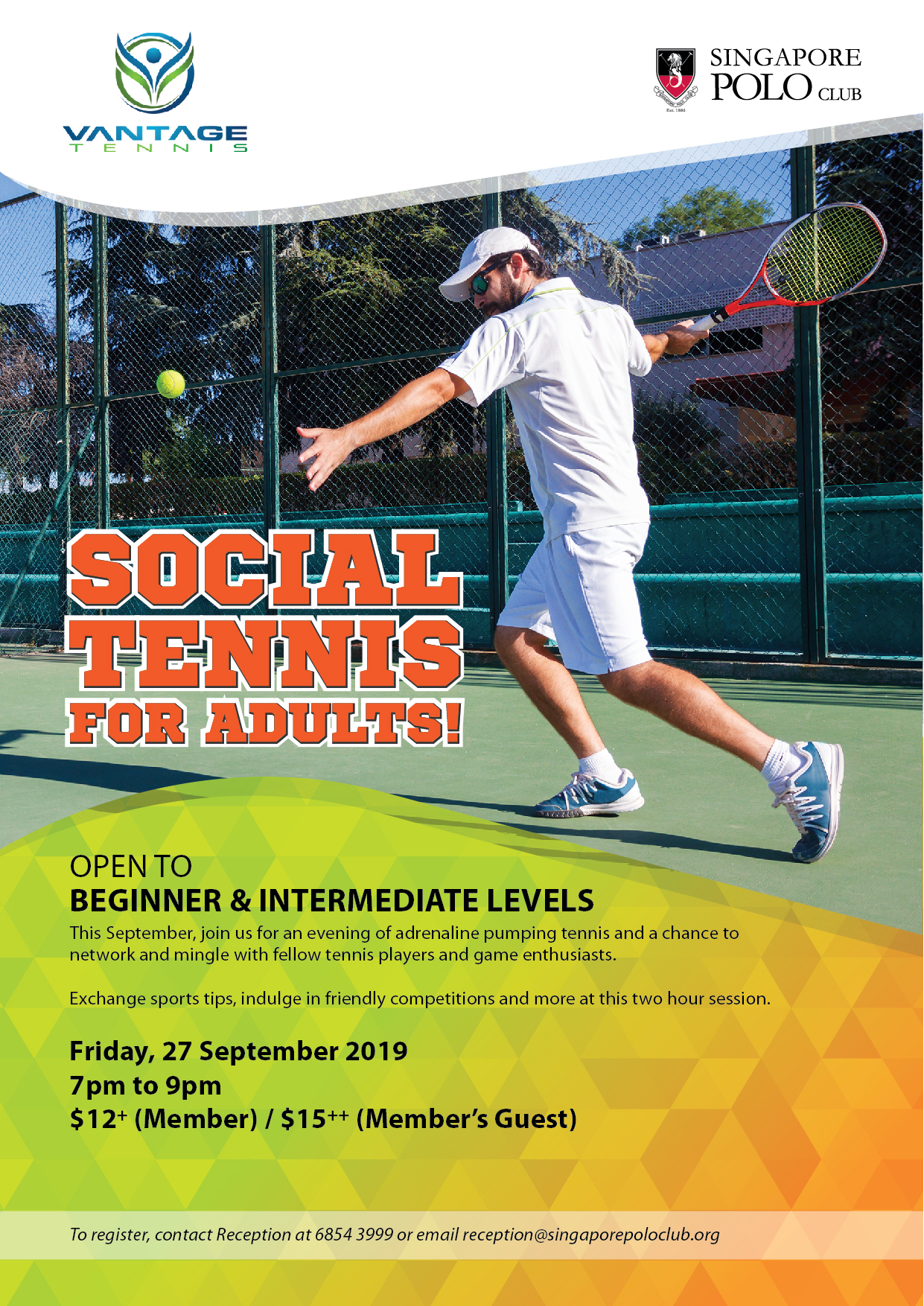 Social Tennis for Adults