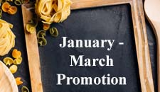 January - March Food Promotion